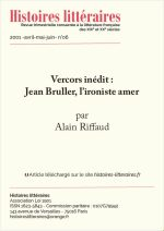 Vercors inédit : Jean Bruller, l'ironiste amer