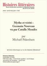 Mythe et vérité : Germain Nouveau vu par Catulle Mendès