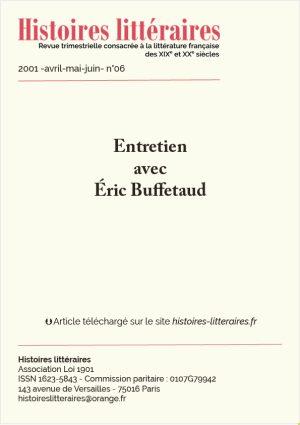 Page de garde entretien avec Eric Buffetaud