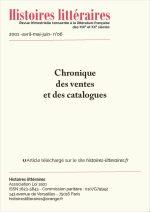 Chroniques des ventes et catalogues