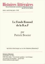 Le Fonds Roussel de la B.n.F