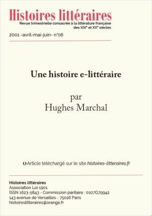 Page de garde histoire e-littéraire