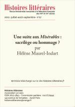 Une suite aux <em>Misérables</em> : sacrilège ou hommage ?