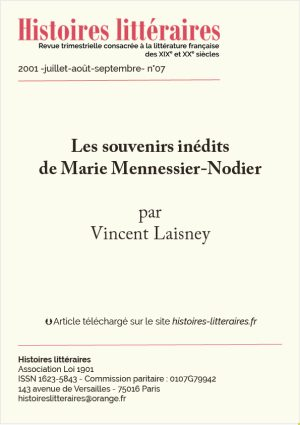 Page de garde Marie Mennessier-Nodier