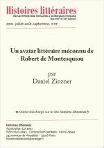 Un avatar littéraire méconnu de Robert de Montesquiou