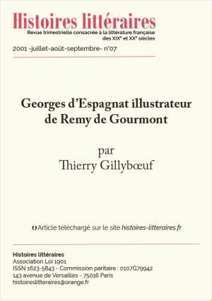 Page de garde Georges d'Espagnat