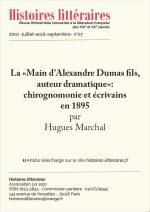 """La """"Main d'Alexandre Dumas fils, auteur dramatique"""": chirognomonie et écrivains en 1895"""