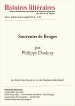 Souvenirs de Bruges