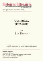 André Blavier (1922-2001)