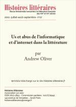 Us et abus de l'informatique et d'Internet dans la littérature