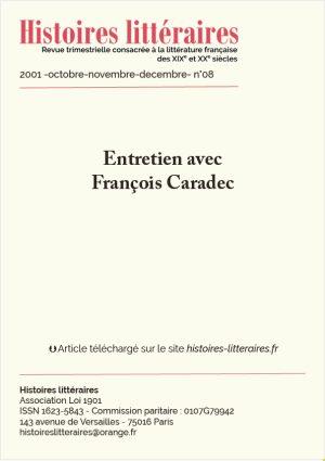 Page de garde entretien avec François Caradec