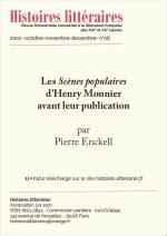 Les <em>Scènes populaires</em> d'Henry Monnier avant leur publication