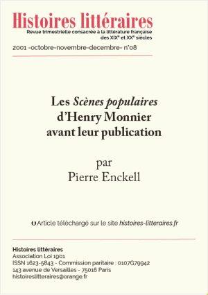 Page de garde des Scènes populaires de'Henri Monnier