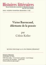 Victor Barrucand, dilettante de la pensée