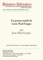 Un poème inédit de Léon-Paul Fargue