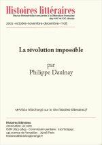 La révolution impossible