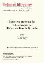 La réserve précieuse des Bibliothèques de l'Université libre de Bruxelles
