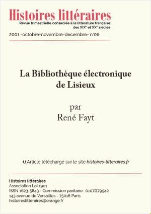Page de garde Bibliothèque électronique de Lisiseux