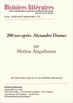 200 ans après. Alexandre Dumas