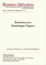 Entretien avec Dominique Noguez