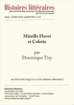 Mireille Havet et Colette