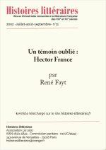 Un témoin oublié : Hector France