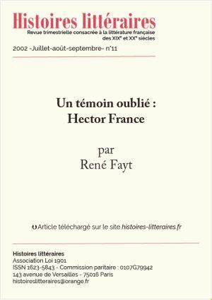 page de garde d'Hector France