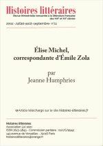 Élise Michel, correspondante d'Émile Zola