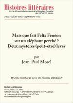 Mais que fait Félix Fénéon sur un éléphant perché ? Deux mystères (peut-être) levés