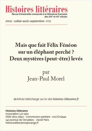 page de garde Félix Fénéon sur un éléphant
