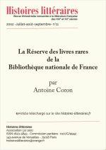 La Réserve des livres rares de la Bibliothèque nationale de France