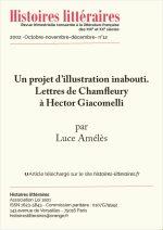 Un projet d'illustration inabouti. Lettres de Champfleury à Hector Giacomelli