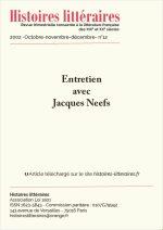 Entretien avec Jacques Neefs