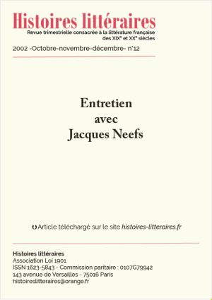 page de garde entretien avec Jacques Neefs