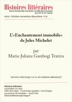 "L' ""Enchantement immobile"" de Jules Michelet"