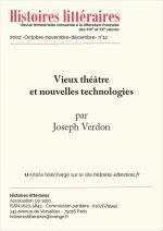 Vieux théâtre et nouvelles technologies