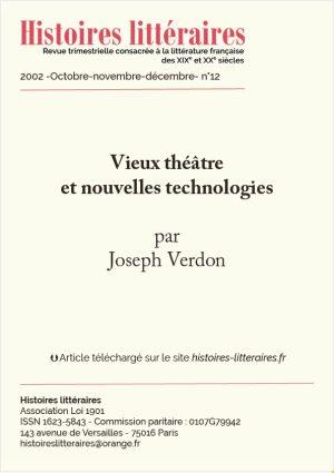 Page de garde Vieux Théâtre