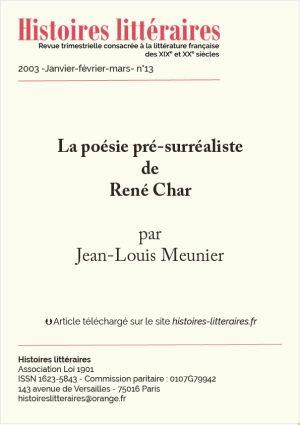 Page de titre René Char