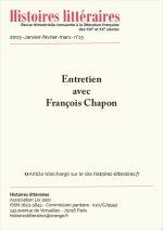 Entretien<br/>avec François Chapon