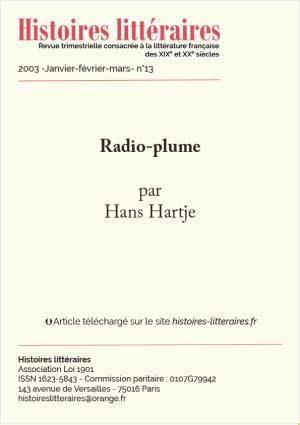 Page titre de Radio-plume