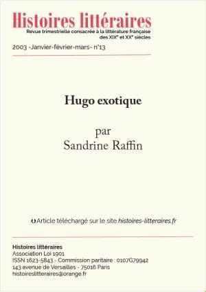 page titre Hugo exotique