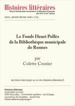 Le Fonds Henri Pollès<br/>de la Bibliothèque municipale de Rennes