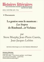 La genèse sous le manteau<br/><em>Les Stupra</em><br/>de Rimbaud…et Verlaine