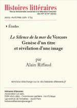 <em>Le Silence de la mer</em> de Vercors<br/>Genèse d'un titre et révélation d'une image