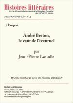 André Breton,<br/>le vent de l'éventuel