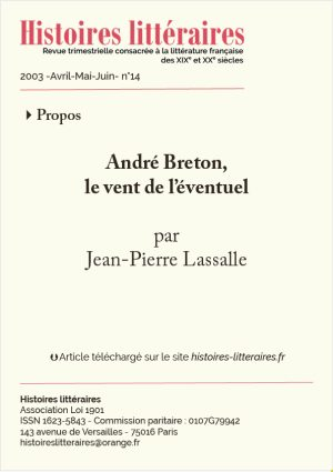 Page de titre André Breton
