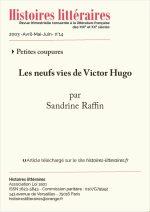 Les neufs vies<br/>de Victor Hugo