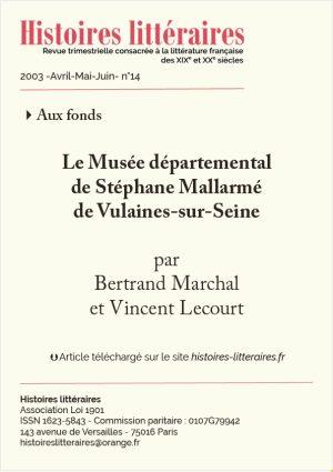 page de titre fonds Stéphane Mallarmé