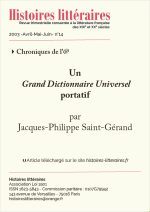 Un <em>Grand Dictionnaire Universel<em/> portatif