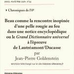 Beau comme<br/> la rencontre inopinée d'une pelle rougie au feu dans une notice encyclopédique ou le <em>Grand Dictionnaire universel</em> à l'épreuve de Lautréamont/Ducasse